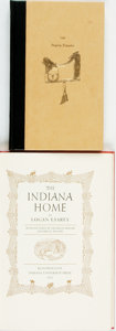 Books:Americana & American History, Logan Esarey. The Indiana Home. Bloomington: IndianaUniversity Press, 1953. First edition. Publisher's red binding ...(Total: 2 Items)