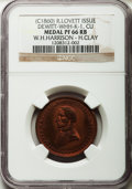 U.S. Presidents & Statesmen, (circa 1860) W.H. Harrison - H. Clay PR66 Red and Brown NGC.DeWitt-WHH-K-1. Copper....