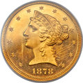 Proof Liberty Half Eagles, 1878 $5 PR63 Deep Cameo PCGS....