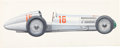 Transportation:Automobilia, Carlo Demand Original Artwork Of 1938 Mercedes Benz W154 RennwagenGrand Prix Race Car ...