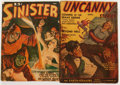 Pulps:Horror, Sinister Stories/Uncanny Stories Group (Various, 1940-41)Condition: Average GD/VG.... (Total: 2 Items)