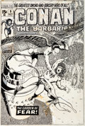 Original Comic Art:Covers, Barry Smith Conan the Barbarian #9 Cover Original Art(Marvel, 1971)....