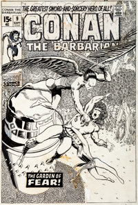 Barry Smith Conan the Barbarian #9 Cover Original Art (Marvel, 1971)