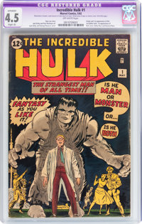 The Incredible Hulk #1 (Marvel, 1962) CGC Apparent VG+ 4.5 Off-white pages