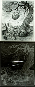 """Books:Prints & Leaves, Michael Ramus. Oversize Negative and Photograph of His Painting for """"The Lost Leaf."""" Used in the June 1969 issue of Ameri..."""