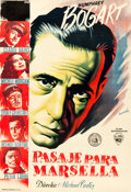 """Movie Posters:War, Passage to Marseille (Warner Brothers, 1949). Spanish One Sheet(27"""" X 39.5"""").. ..."""