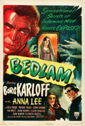 "Movie Posters:Horror, Bedlam (RKO, 1946). One Sheet (27.5"" X 41"").. ..."