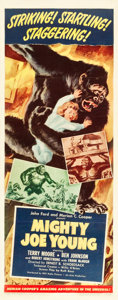 "Movie Posters:Horror, Mighty Joe Young (RKO, 1949). Insert (14"" X 36"").. ..."