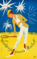 """Movie Posters:Foreign, Mr. Hulot's Holiday (CWF, 1954). Polish One Sheet (20.5"""" X 33"""").. ..."""