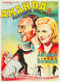 """Movie Posters:Musical, Carefree (Astoria Films, 1938). Spanish One Sheet (27"""" X 39"""").. ..."""
