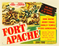 "Movie Posters:Western, Fort Apache (RKO, 1948). Half Sheet (22"" X 28.25"") Style B.. ..."