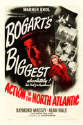 """Movie Posters:War, Action in the North Atlantic (Warner Brothers, 1943). One Sheet(27.25"""" X 41"""").. ..."""