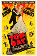 "Movie Posters:Musical, Top Hat (RKO, R-1953). One Sheet (27"" X 41"").. ..."