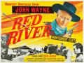 """Movie Posters:Western, Red River (United Artists, R-1950s). British Quad (30"""" X 40"""").. ..."""