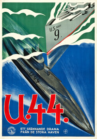 "Submarine (Columbia, 1928). Swedish One Sheet (27.5"" X 39.5"")"