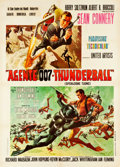 "Movie Posters:James Bond, Thunderball (United Artists, 1965). Italian 2 - Foglio (39.75"" X55.5"").. ..."
