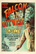 "Movie Posters:Mystery, The Falcon Out West (RKO, 1944). One Sheet (27.25"" X 40.75"").Mystery.. ..."