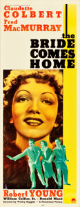 "Movie Posters:Comedy, The Bride Comes Home (Paramount, 1935). Insert (14"" X 36"").. ..."