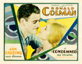 "Movie Posters:Drama, Condemned (United Artists, 1929). Half Sheet (22"" X 28"").. ..."