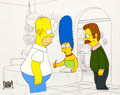 Animation Art:Production Cel, The Simpsons Homer, Marge and Ned Production Cel Setup (Fox,c. 1990s)....