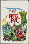 """Movie Posters:Animation, Peter Pan (Buena Vista, R-1960s, R-1970s & R-1982). Belgian(14.25"""" X 21.5""""), Promo Poster (14"""" X 21.5""""), and One Sheet (27""""...(Total: 3 Items)"""