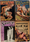 Pulps:Miscellaneous, Spicy/Saucy Pulps Group (Various Publishers, 1936-41).... (Total: 4 Items)