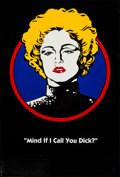 """Movie Posters:Action, Dick Tracy (Buena Vista, 1990). One Sheet (27"""" X 40"""") DS """"Breathless Mahoney"""" Madonna Advance Style. Action.. ..."""