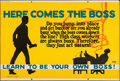 "Movie Posters:Miscellaneous, Here Comes the Boss (Mather and Company, 1923). Motivational Poster (28"" X 41.5""). Miscellaneous.. ..."