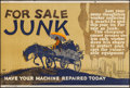 """Movie Posters:Miscellaneous, For Sale Junk (Mather and Company, 1923). Motivational Poster (28"""" X 41.5""""). Miscellaneous.. ..."""