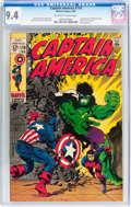 Silver Age (1956-1969):Superhero, Captain America #110 (Marvel, 1969) CGC NM 9.4 Off-white to white pages....
