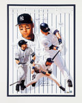 Baseball Collectibles:Others, 2000 Derek Jeter Signed Lithograph....