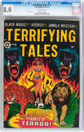 Golden Age (1938-1955):Horror, Terrifying Tales #11 (Star Publications, 1953) CGC VF 8.0 Off-whitepages....