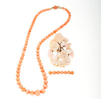 Coral, Gold Jewelry
