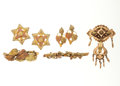 Estate Jewelry:Lots, Antique Gold Jewelry. ... (Total: 4 Items)