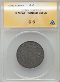 1783 COPPER Nova Constellatio Copper, Pointed Rays, Small US Good 6 ANACS. NGC Census: (1/48). PCGS Population (0/154)...