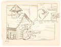 Animation Art:Production Drawing, School of Fish Storyboard (Famous, c. 1950s)....