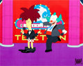"Animation Art:Production Cel, The Simpsons ""Black Widower"" Krusty the Clown and SideshowBob Production Cel Setup (Fox, 1992).... (Total: 2 Items)"