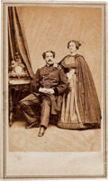Photography:CDVs, General Abner Doubleday and Wife Carte de Visite....