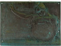 Military & Patriotic:Spanish American War, Important Large U.S.S. Maine Bronze Memorial Plaque Made From Metal Recovered From The Ship....