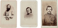 Photography:CDVs, Group of Three Confederate Cartes de Visite... (Total: 3 Items)