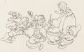 Animation Art:Production Drawing, Snow White and the Seven Dwarfs Snow White and Dwarfs Publicity Drawing (Walt Disney, 1937)....