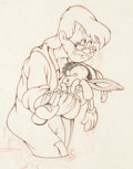 Animation Art:Production Drawing, Pinocchio Gepetto and Pinocchio Production Drawing (WaltDisney, 1940)....
