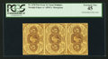 Fractional Currency:First Issue, Fr. 1230 5¢ First Issue Strip of Three PCGS Extremely Fine 45.. ...