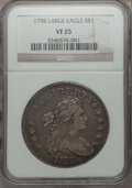 Early Dollars, 1798 $1 Large Eagle, Pointed 9, Four Berries, B-8, BB-125, R.2,VF25 NGC....