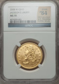 Modern Issues, 2008-W $10 Jackson's Liberty Half-Ounce Gold Ten Dollar MS70NGC....