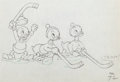 Animation Art:Production Drawing, The Hockey Champ Donald and his Nephews Production DrawingGroup (Walt Disney, 1939).... (Total: 2 Original Art)