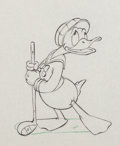 Animation Art:Production Drawing, Donald's Golf Game Donald Duck Production Drawing (WaltDisney, 1938)....