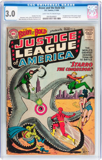 The Brave and the Bold #28 Justice League of America (DC, 1960) CGC GD/VG 3.0 Light tan to cream pages
