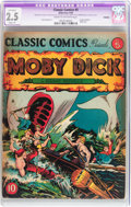 Golden Age (1938-1955):Classics Illustrated, Classic Comics #5 Moby Dick - Original Edition (Gilberton, 1942) CGC Apparent GD+ 2.5 Slight (A) Cream to off-white pages....
