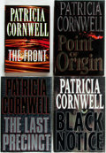 Books:Mystery & Detective Fiction, Patricia Cornwell. SIGNED. Point of Origin, Black Notice, TheLast Precinct [and:] The Front. New York: Putn...(Total: 4 Items)